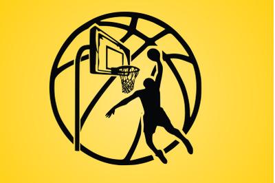 Basketball Svg, Basketball Heart Svg, Basketball Heart Monogram Svg.