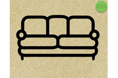 sofa, couch SVG cut files, DXF, vector EPS cutting file