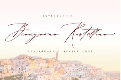 Buongiorno Rastellino script font
