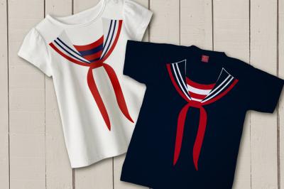 Faux Sailor Uniform | SVG | PNG | DXF
