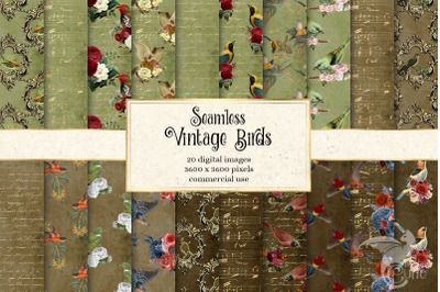 Vintage Birds Digital Paper