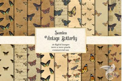 Vintage Butterfly Digital Paper