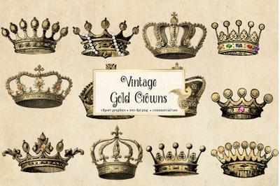 Vintage Gold Crowns