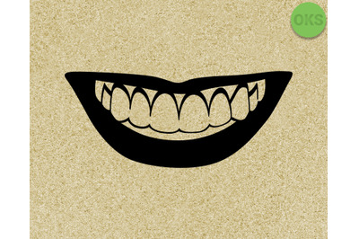 smile, smiling with teeth SVG cut files, DXF, vector EPS cutting file