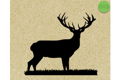 stag antlers SVG cut files, DXF, vector EPS cutting file