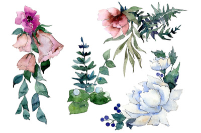 Bouquet of flowers Splendor watercolor png
