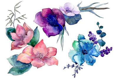 Bouquet Elegance watercolor png