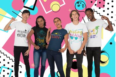 The Summer & Beach Quotes SVG Bundle | Summer T-shirt Bundle