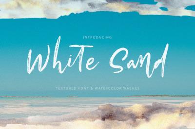 White Sand. Font + Extras.
