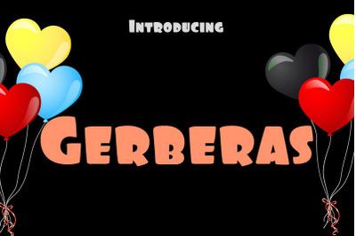 Gerberas Font
