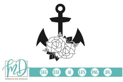 Floral Anchor SVG