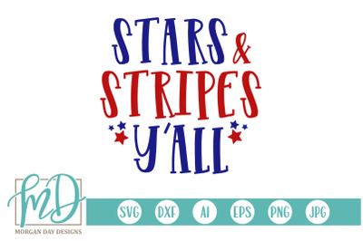 Stars and Stripes Y'all SVG