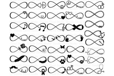 36 Infinity  Bundle SVG Files.   Infinity Symbols SVG.