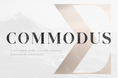 Commodus - All Caps Serif Typeface
