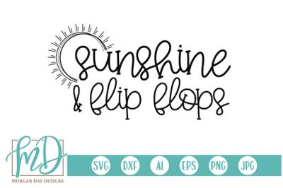 Sunshine and Flip Flops SVG