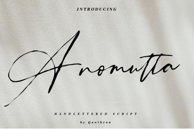 Anomutta - Script font