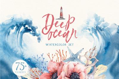 DEEP OCEAN Watercolor set