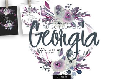 Georgia. Indigo Wreath #1