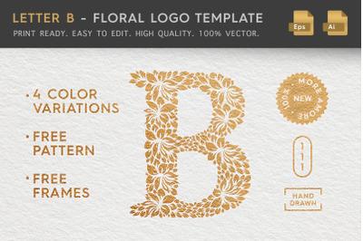 Letter B - Floral Logo Template