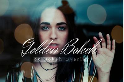 60 Golden Bokeh lights Effect Photo Overlay, Wedding Overlay Sparkles