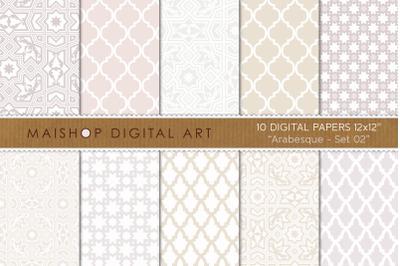 Digital Paper   I   Arabesque - Set 02
