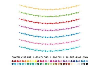 Ball Garland Clip Art Set