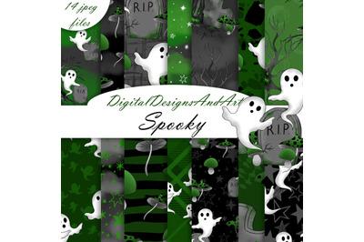 Halloween seamless paper