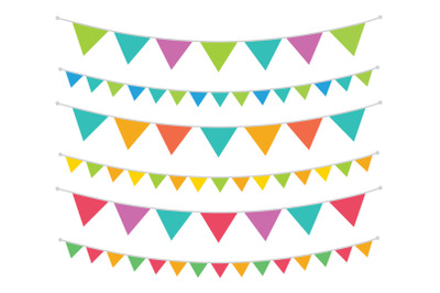 Carnival Triangle Banner Set