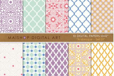 Digital Paper Arabesque Set 01