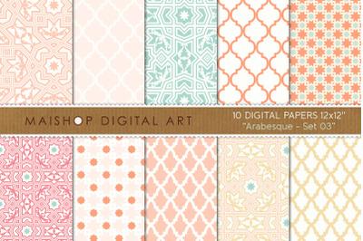Digital Paper I Arabesque Set 03