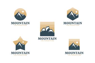 Mountain logo. adventure logo template