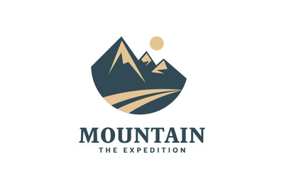 Mountain The expedition, adventure logo