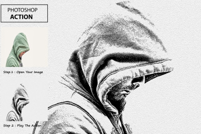 Note Paper Sketch Photoshop Action