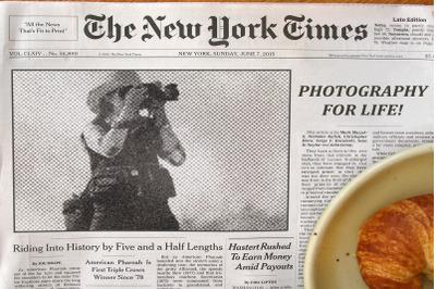 Newspaper Headline Photoshop Action
