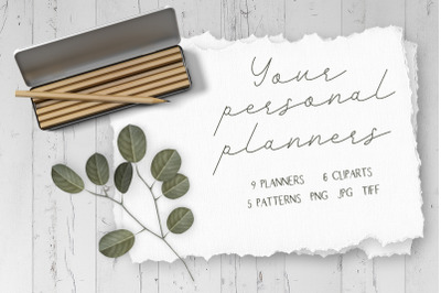 Your personal planners. Printable calendar for the month and week