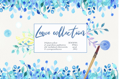 Watercolor Leave Collections