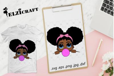 Afro Girl Peeking, Melanin Poppin SVG Cut File