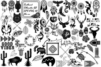 Boho Tribal Southwest Bundle AI EPS PNG