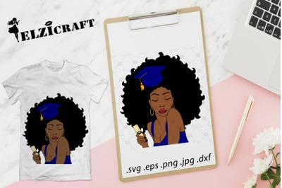 Graduated Afro Woman 2019 SVG Cut File