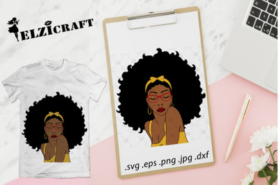 Afro Woman SVG Cut File