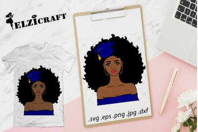 Graduated Afro Girl 2019 SVG Cut File