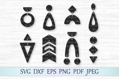 Geometric earrings svg, Boho earrings cricut, Chevron earrings,