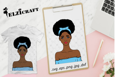 Afro Girl SVG Cut File