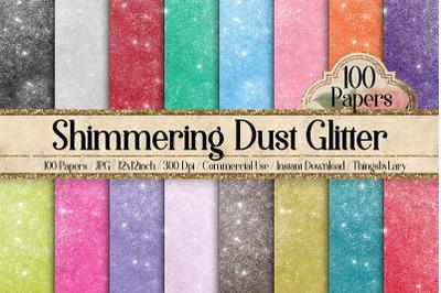 100 Shimmering Dust Glitter Fantasy Fairy Tale Digital Papers
