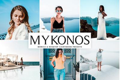 Mykonos Mobile & Desktop Lightroom Presets