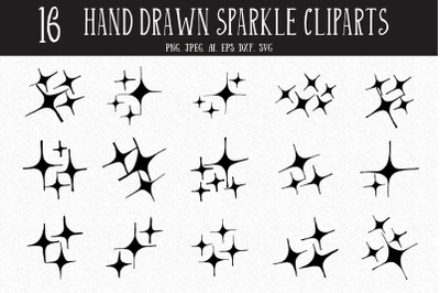 10+ Hand Drawn Sparkle Cliparts