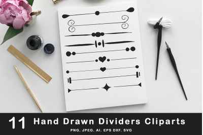 10+ Hand Drawn Dividers Cliparts