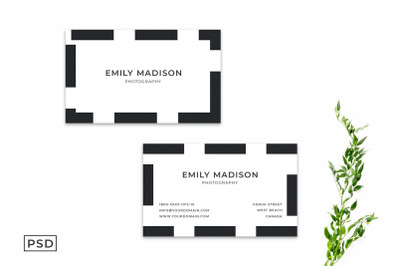 Simple Minimal Business Card Template Vol. 2