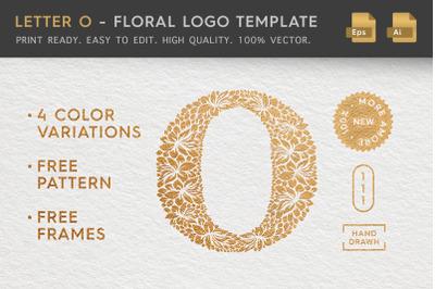 Letter O - Floral Logo Template