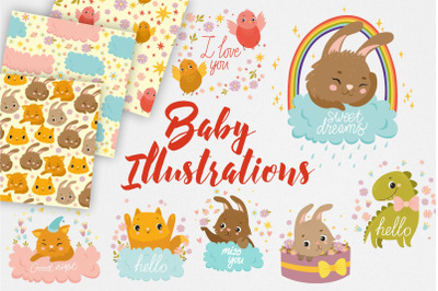 Baby Illistrations/ kids patterns